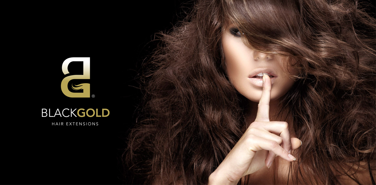 Black Gold Hair Extensions